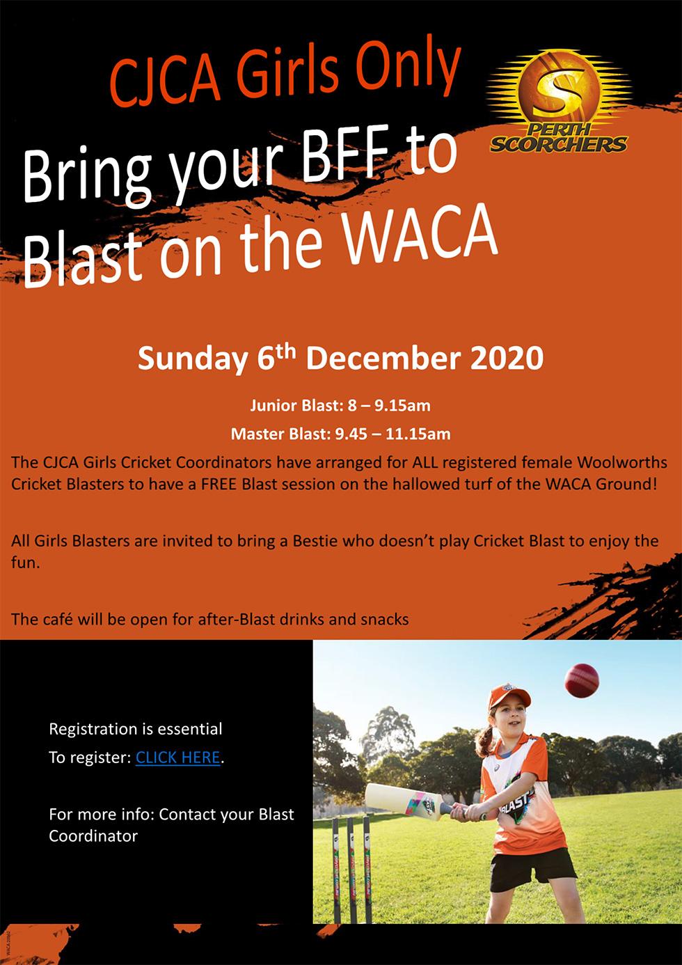 CJCA Girls Only Blast Day
