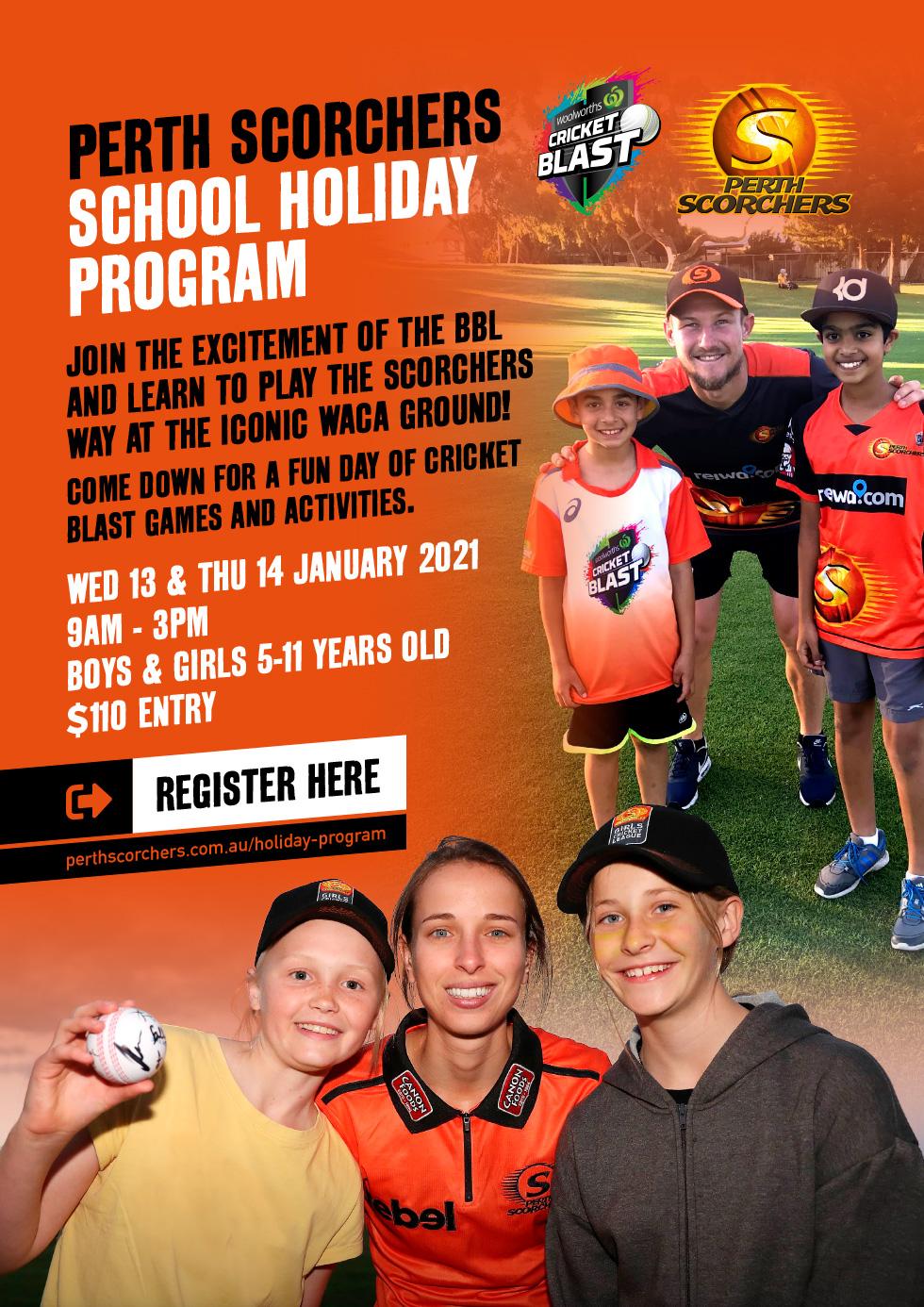 Perth Scorchers School Holiday Program