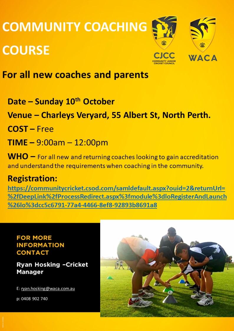 Community Coaching Course